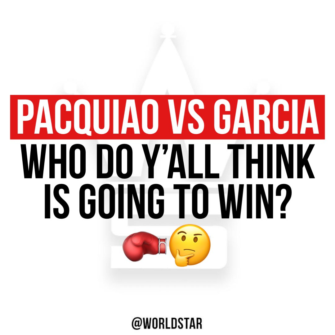 #RyanGarcia announced he'll be fighting #MannyPacquiao in his next match! Who do y'all think is going to win?! 👇🥊🤔 @MannyPacquiao