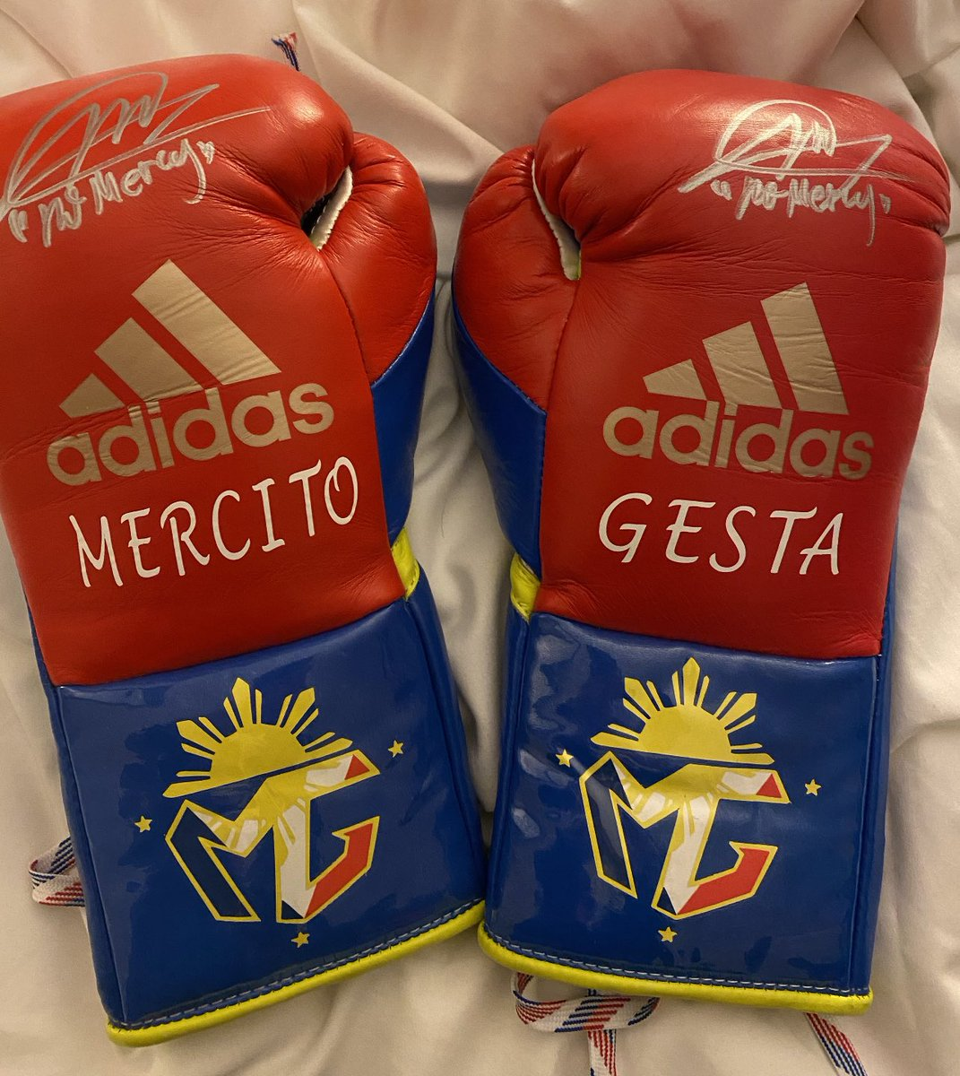 Always thankful to my @adidas boxing family for providing me with great 8oz gloves for my fights. My customized fight gloves in 2019.  #Philippines   #ReadyForSport #AdidasBoxing #LabanParaSaBayan   @cs_adidas @mrboxingguru @chrisdessalles @WildCardBoxing1 @GoldenBoyBoxing