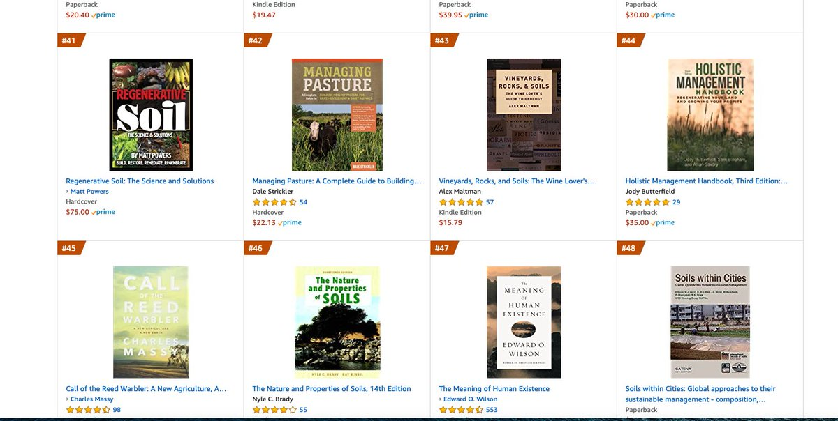 !! Already Climbing the Best Selling charts!!  It jumped over 20 slots in 1 day!! WOW!!  Let's make #Regenerative #SOIL our focus in 2021!!  Get your copy on Amazon or leave a review:   Get a signed copy from me instead ;)