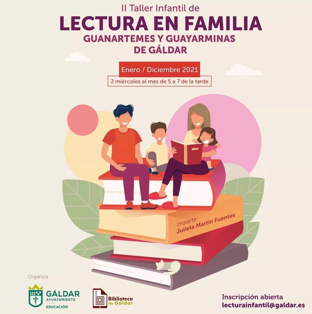 Ya puedes apuntarte en el II Taller Infantil de Lectura en Familia de Gáldar, con la escritora Julieta Martín Fuentes.  Manda un mail a lecturainfantil@galdar.es Miércoles 27 de febrero, de 17:00 a 19:00 horas. #cultura #bibliotecas #Canarias #familias #Gáldar