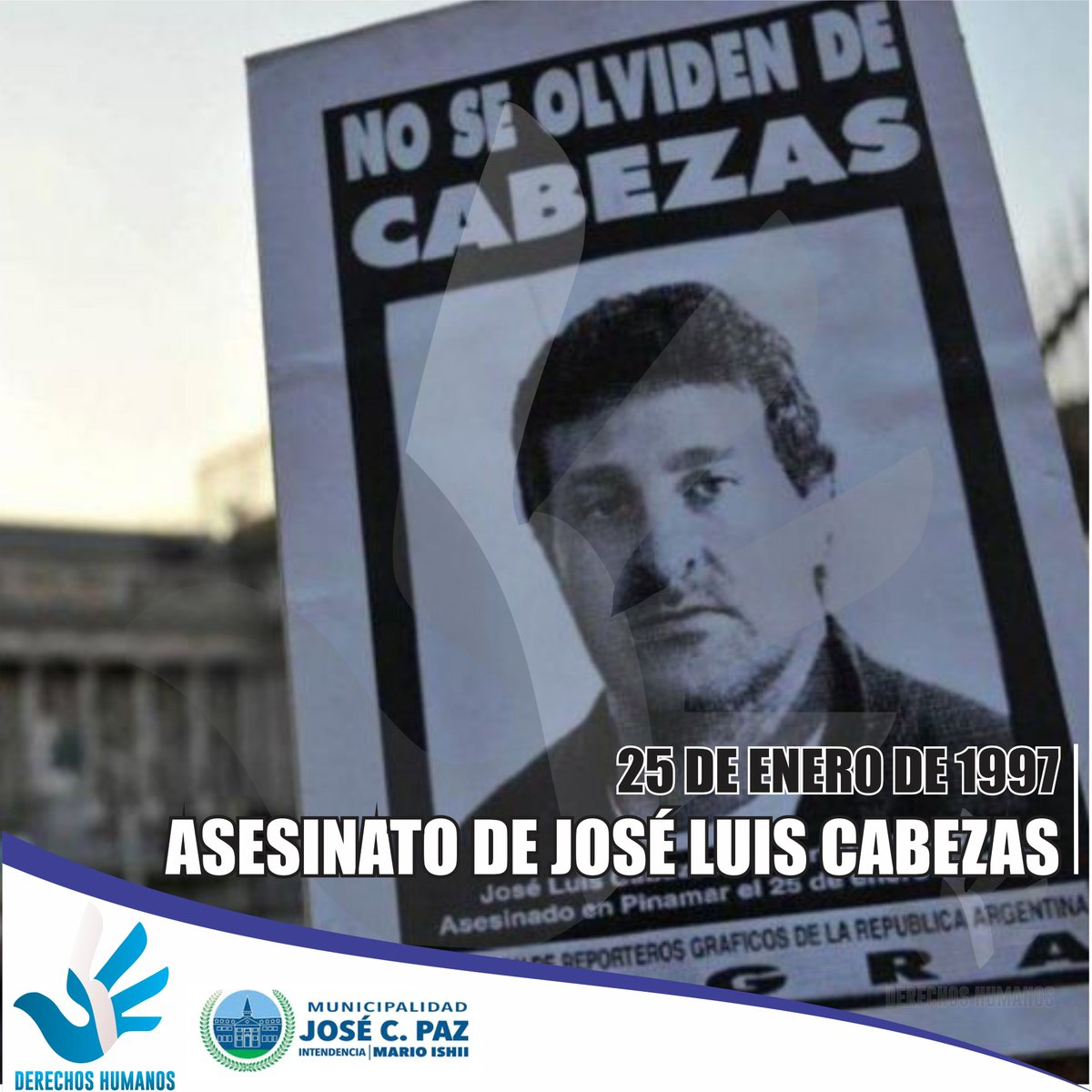 El 25 de enero de 1997, José Luis Cabezas era secuestrado y asesinado por una banda conformada por agentes de la policía bonaerense en la ciudad balnearia de Pinamar, cuando realizaba la cobertura periodística de la temporada de verano para la revista Noticias. #ddhh