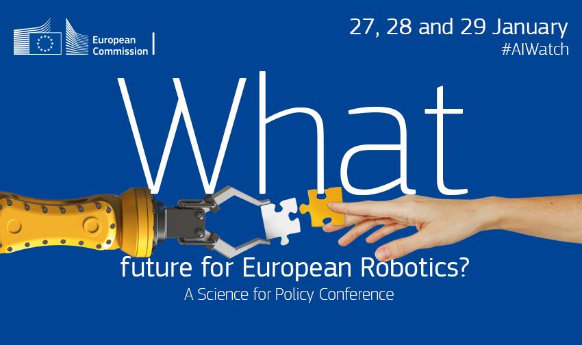 """test Twitter Media - """"What future for European Robotics?""""  Pleased to give a keynote speech on the impact of #robots on society & human behaviour at the forthcoming @EU_ScienceHub #robotics conference!  🔴 Tune in to follow live this Thursday at 15:00 CET!  👉 https://t.co/TOngPce1ea #AIwatch #AI https://t.co/kFkLiVFWvJ"""