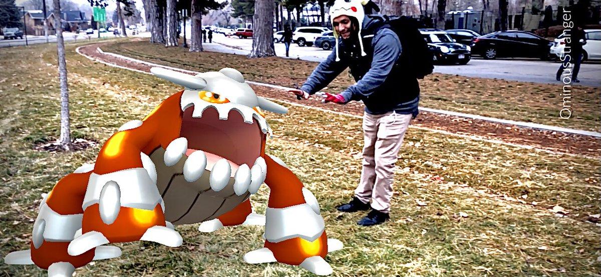 Staying warm with #Heatran is the best idea!! iLoveTaking #arphoto on #PokemonGO !! #PokemonSnap #GOsnapshot #pokemonmasters #pokémon #coldweather #stayingwarm #ominousstrangerphotos #ominousstrangerpokego