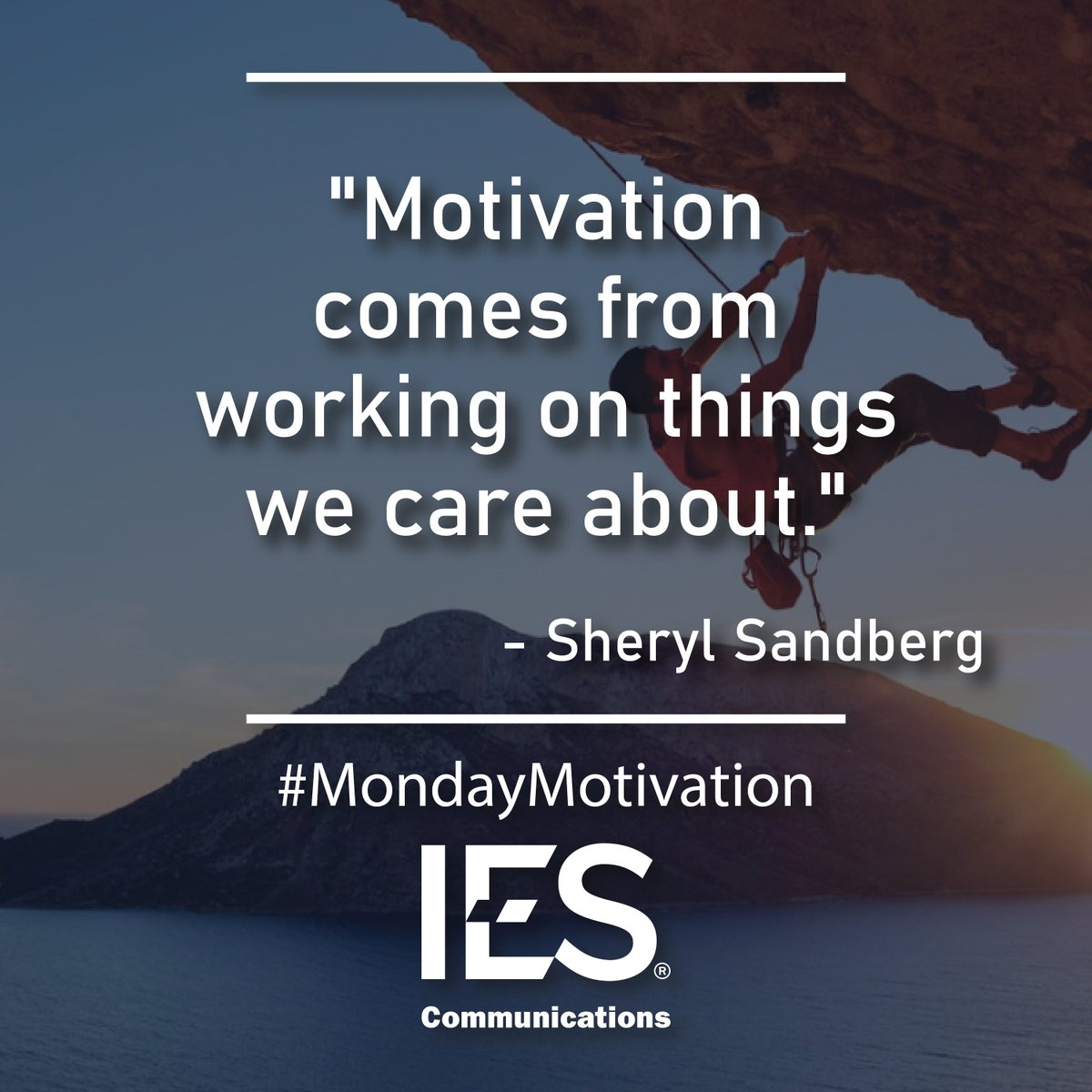 This week, find what matters most to you, and let that be the driving force behind your work. #MondayMotivation #OneIES