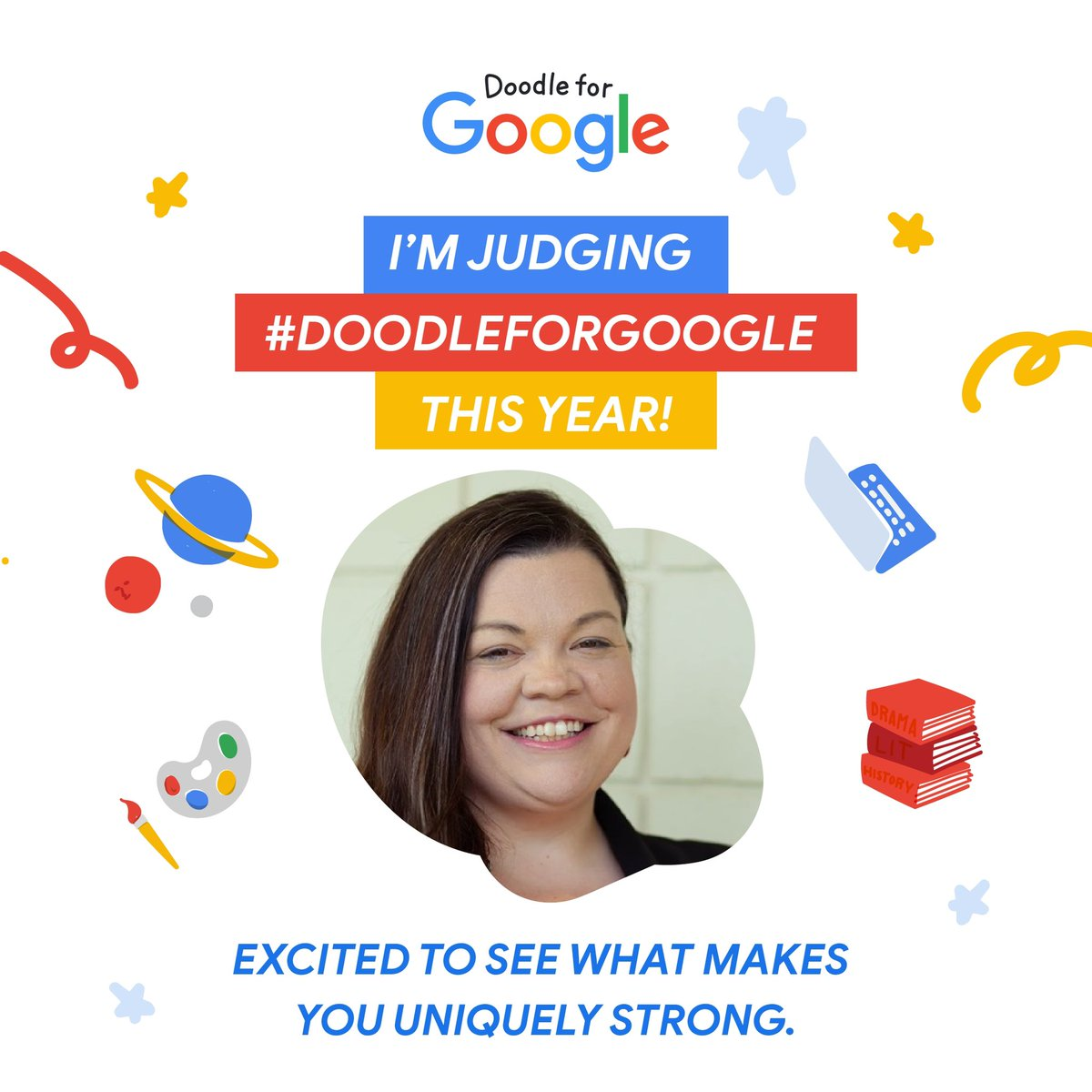 Excited to announce that I'm a judge for the 13th annual #DoodleforGoogle contest, head to the contest website to learn how to enter! ->   @CCSSO @GoogleDoodles @GoogleForEdu #ntoy20