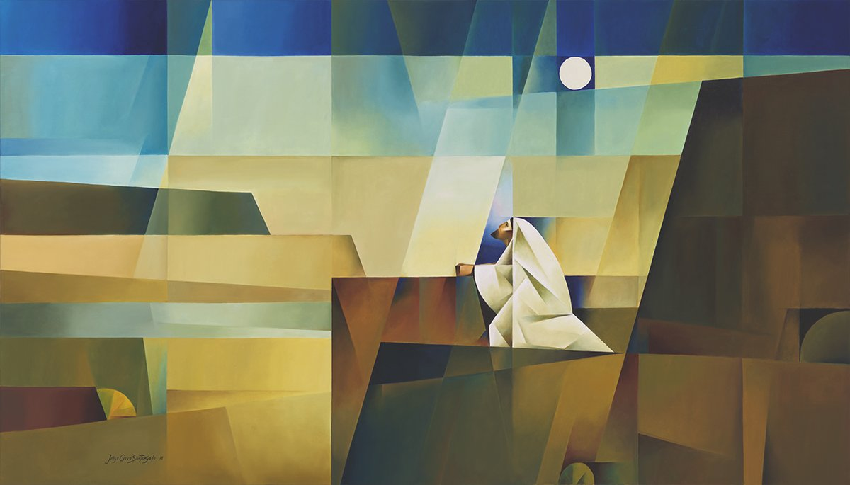 Forty days and Forty nights by Jorge Cocco #DivinityArrived #soulfulart #betweenstories #OrdinaryTime #Advent #Annunciation #Nativity #LifeofJesus