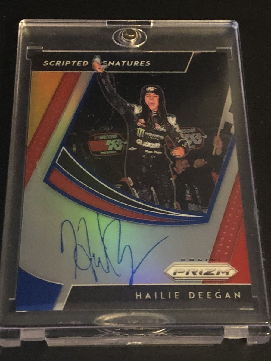 Pulled this last year Hailie Deegan prizm auto last year number to 24 https://t.co/oiKELL2V6h