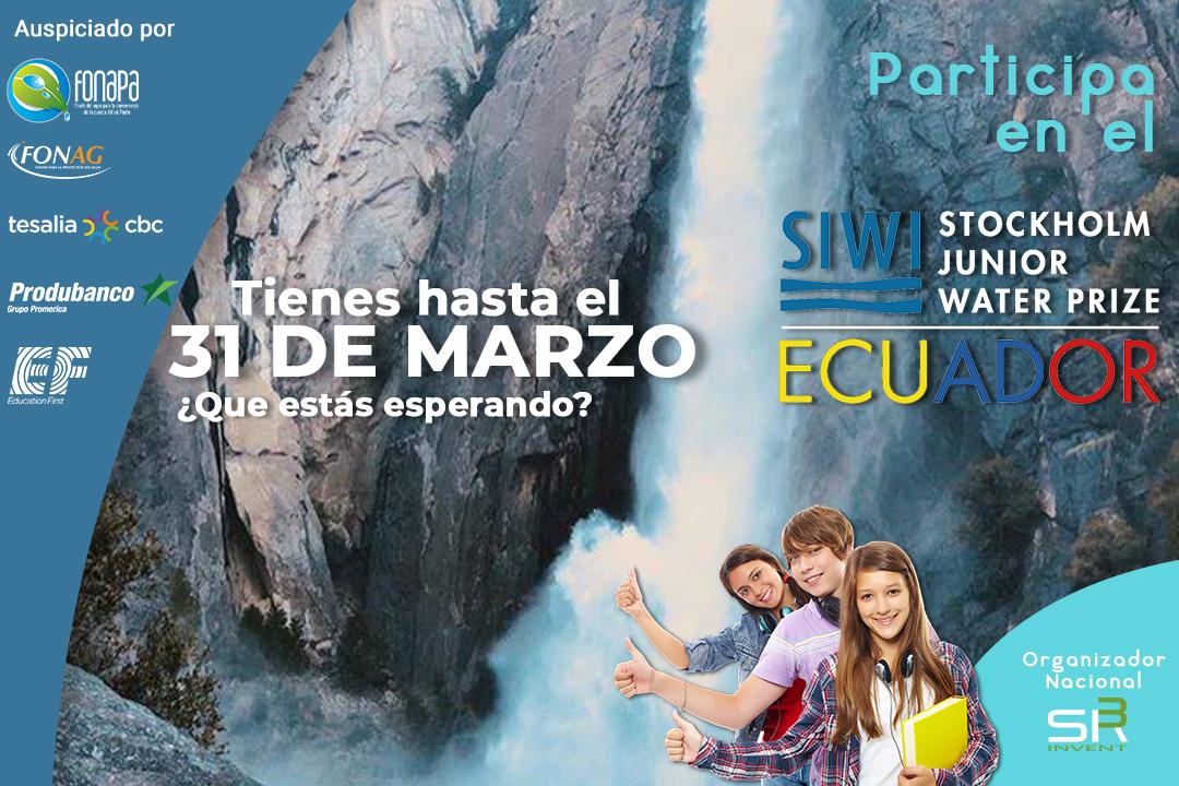 Junior WATER PRIZE Ecuador sigue creciendo y somos parte de este magnífico concurso.⭐️  Se realiza para #inspirar y sembrar en los jóvenes la idea de #cuidar del #agua.💧  ¿Quieres inscribirte? Tienes hasta el 31 de marzo de 2021 para participar:  #concurso