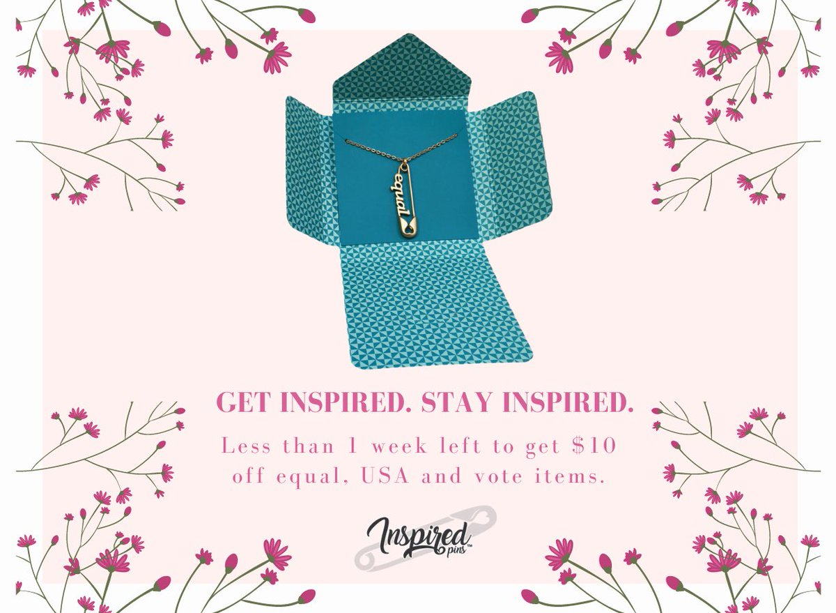 Monday motivation brought to you by @equalitynoworg! Order now for $10 off all equal pins and necklaces AND generate a donation to this great organization      #inspiredPins #InspireChange #equaity