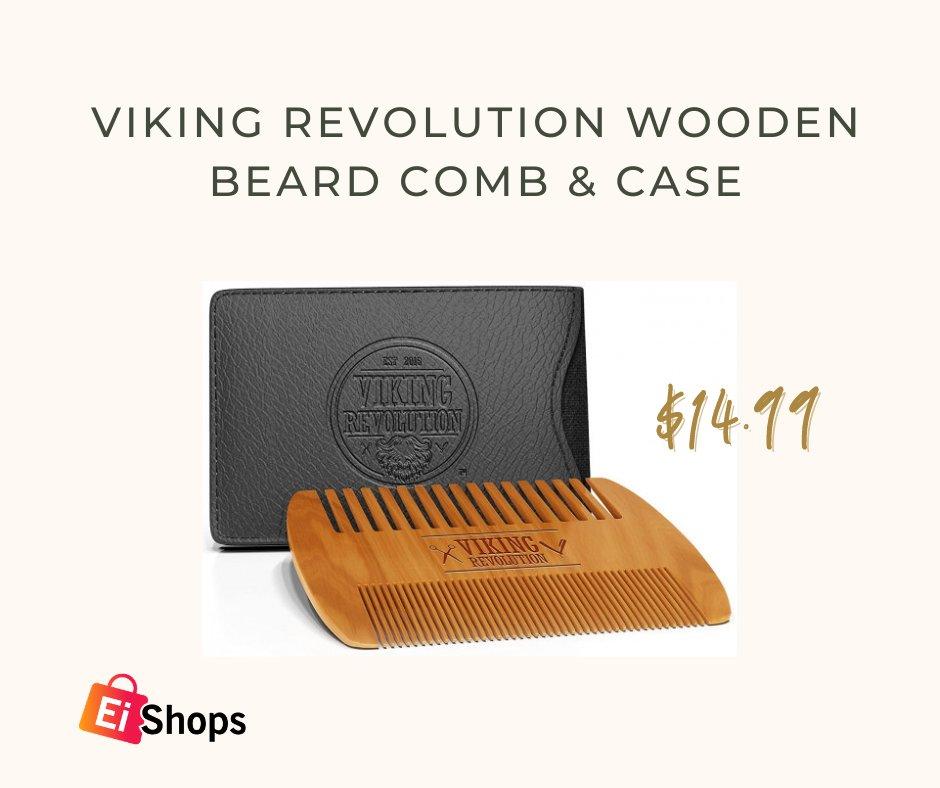 Viking Revolution Wooden Beard Comb & Case🔥 Price: $14.99 Order Now:  #viking #revolution #wooden #Beard #woodenbeard