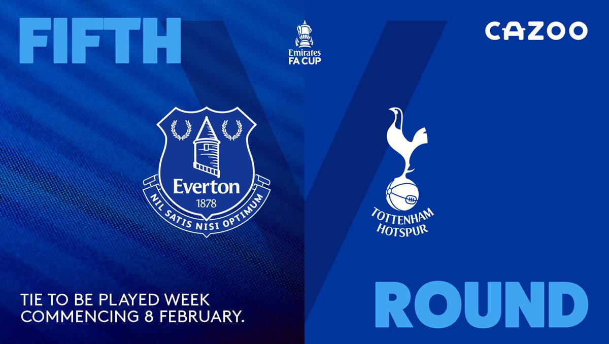 🗓️ | We will face @SpursOfficial in the fifth round of the #EmiratesFACup next month.   Tie details will be confirmed in due course.   #EFC 🔵