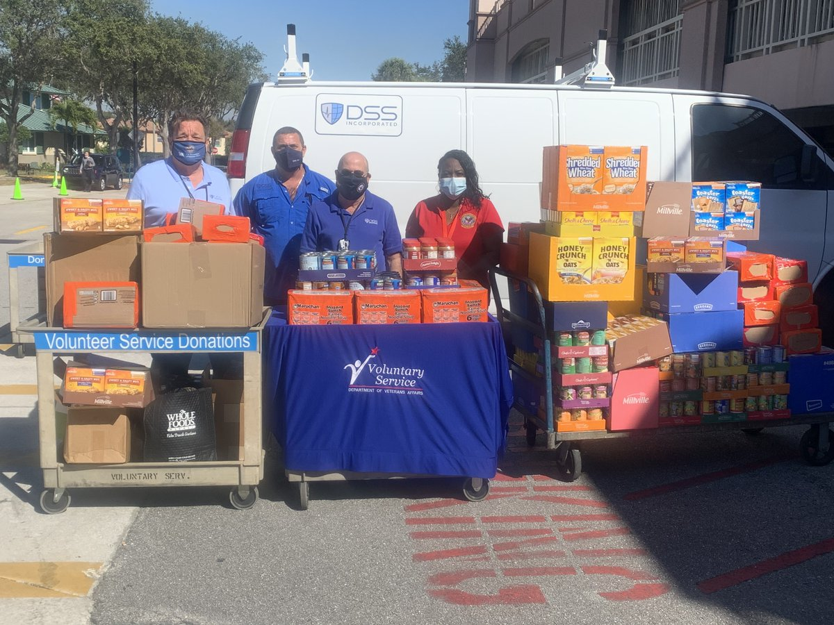 #Thankyou  DSS Incorporated recently donated a large amount of non-perishable food items to the Resource Center for our Homeless Veterans. Pictured from left to right: William Posset, Cornelius Costelloe and Sal Manno from DSS. #Veterans