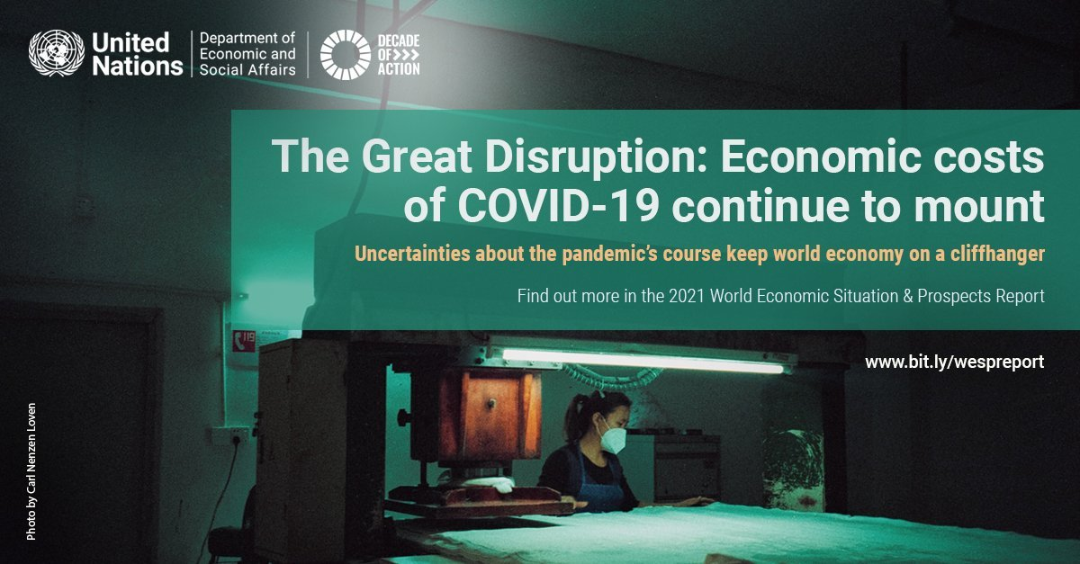 We are facing the worst health & economic crisis in 90 years.  This year, we have an opportunity to use our recovery from #COVID19 to invest in an inclusive & sustainable future that places people at the heart of all our efforts.
