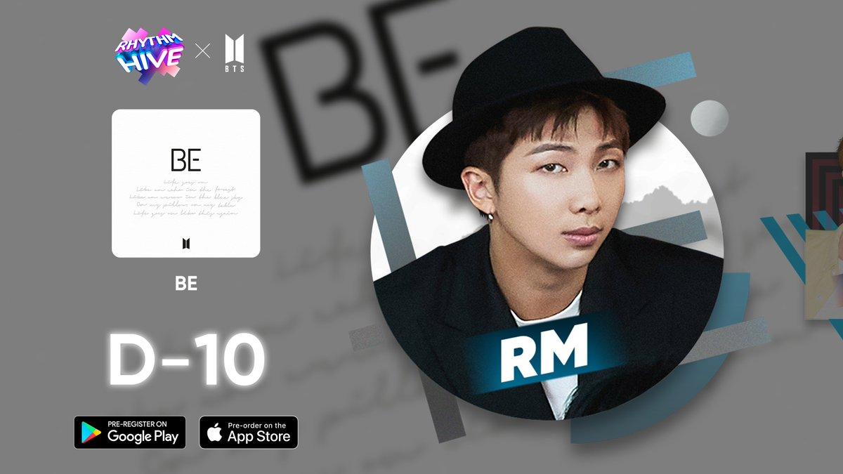 """[Info]  La cuenta oficial de @RhythmHive_twt ha sacado su primer """"Teaser"""" del nuevo juego de Ritmo  Ya está para la preorder en Google Play. Es gratuita!  D-10 #RM  ▶Pre-order:   #Preorder #RhythmGame #BTS #방탄소년단  #BTS_BE  {🦋}"""