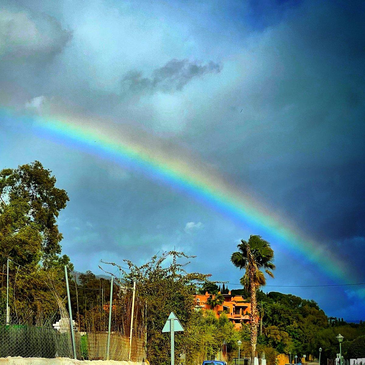 Somewhere over the rainbow #rainbow #monday #workday #sunrise #Lockdown #Curfew #VacunaCOVID19  #vaccination #Covid_19 #COVID19 #pixelart #coloursoftherainbow #thecolourpurple #Spain #Marketing #marbella #Dreamcatcher #GOLD #rain #magic #MakeAWish #Weather #greyskies #WearAMask