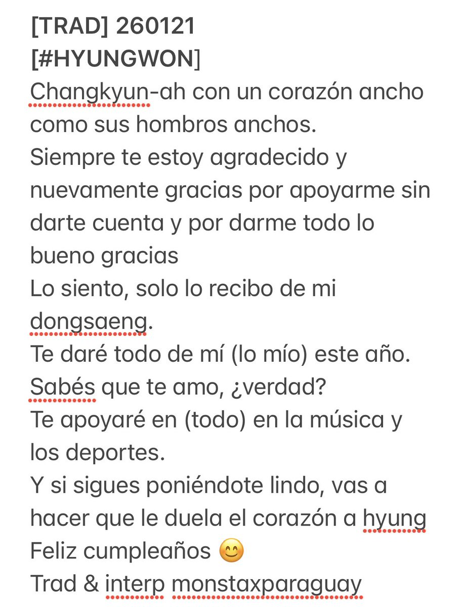 @OfficialMonstaX [TRAD] 260121 [#HYUNGWON] Trad & interp monstaxparaguay   #형원 #올겨울_IM으로_충분해