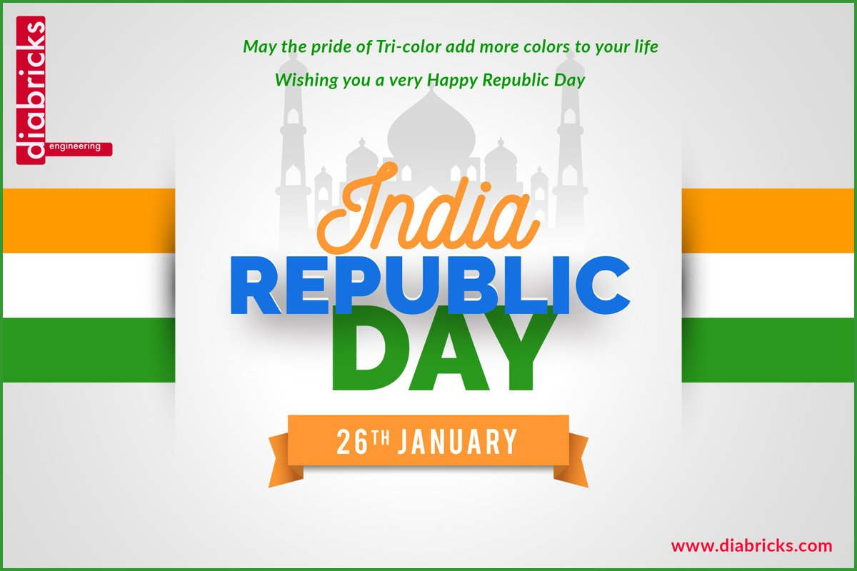 Happy Republic Day 2021!  From Diabricks  . . . #diabricks #manufacturers #packaging #apparel #business #marketing #makeinindia #innovation #celebrations #digital #festival #success #socialmedia #newbeginings #Pongal2021 #republicday2021