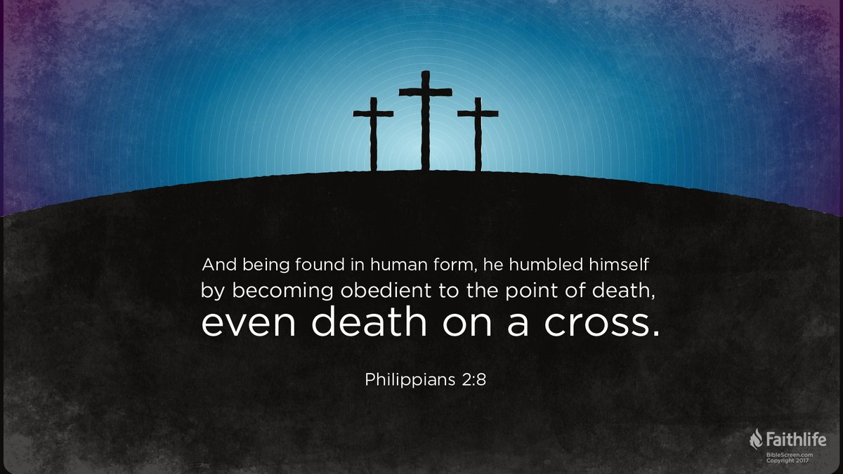 Jesus humbled himself and was obedient to bring us life. #TheMondayWord #MondayMorning #Philippians @Faithlife