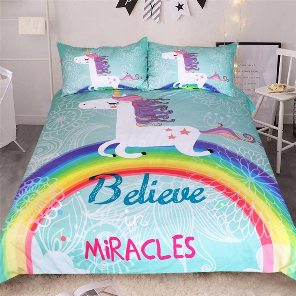 Believe in Miracles Microfiber Bedding Set #homeinterior #homecoming