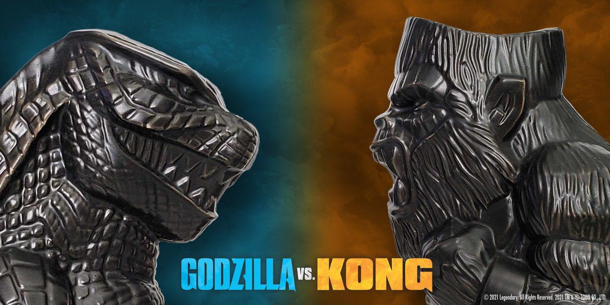 Replying to @KaijuNewsOutlet: Mondo has revealed the first look at their new @GodzillaVsKong Tiki Mugs.