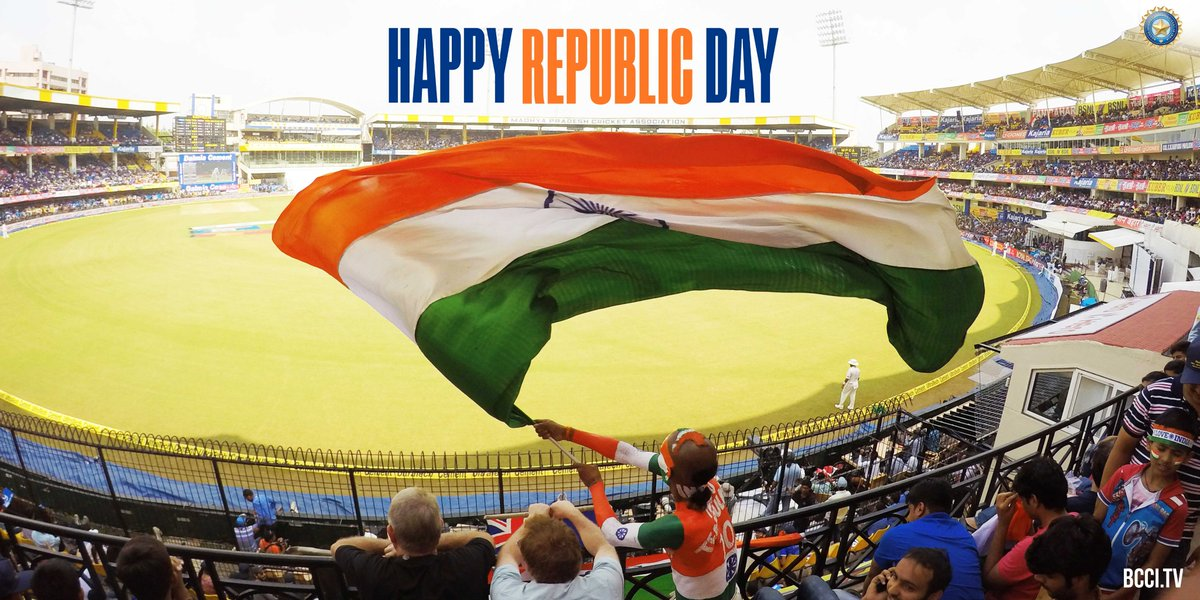 The BCCI wishes you all a very Happy Republic Day 🇮🇳