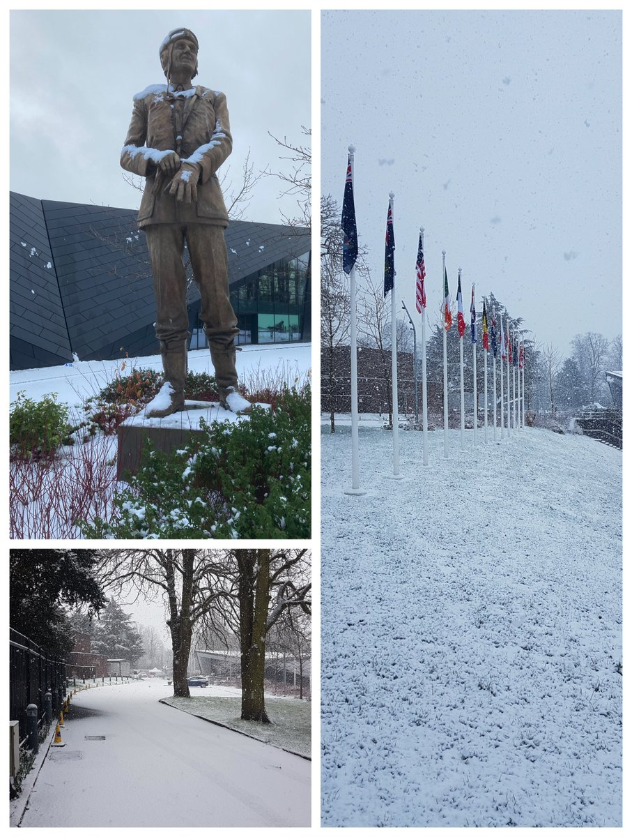It #snowed! Do you like our new #winter look?#BattleofBritainBunker #Photography