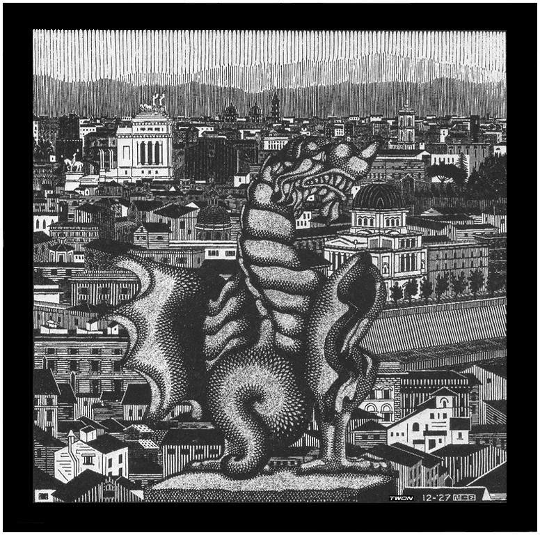 Rome and the Griffin of Borgheses, 1927 #escher #surrealism