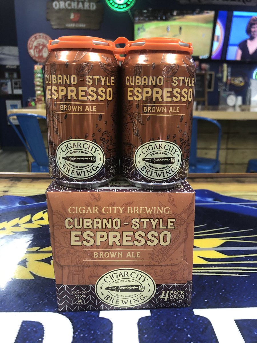 Check out the new beer from Cigar City Brewing. It's their Cubano-Style Espresso Brown Ale. We're offering curbside service too.  Call us at 601-790-7901.  Voted Best Beer Store for the 2nd year in a row!! #bestof2020 #bestof2019 #bestbeerstore2yearsinarow #bestbeerstore
