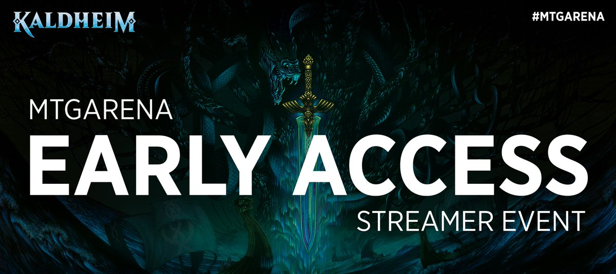 The #MTGKaldheim Early Access Streamer Event happens on January 27th! Get ready to see the new cards in action on MTG Arena.