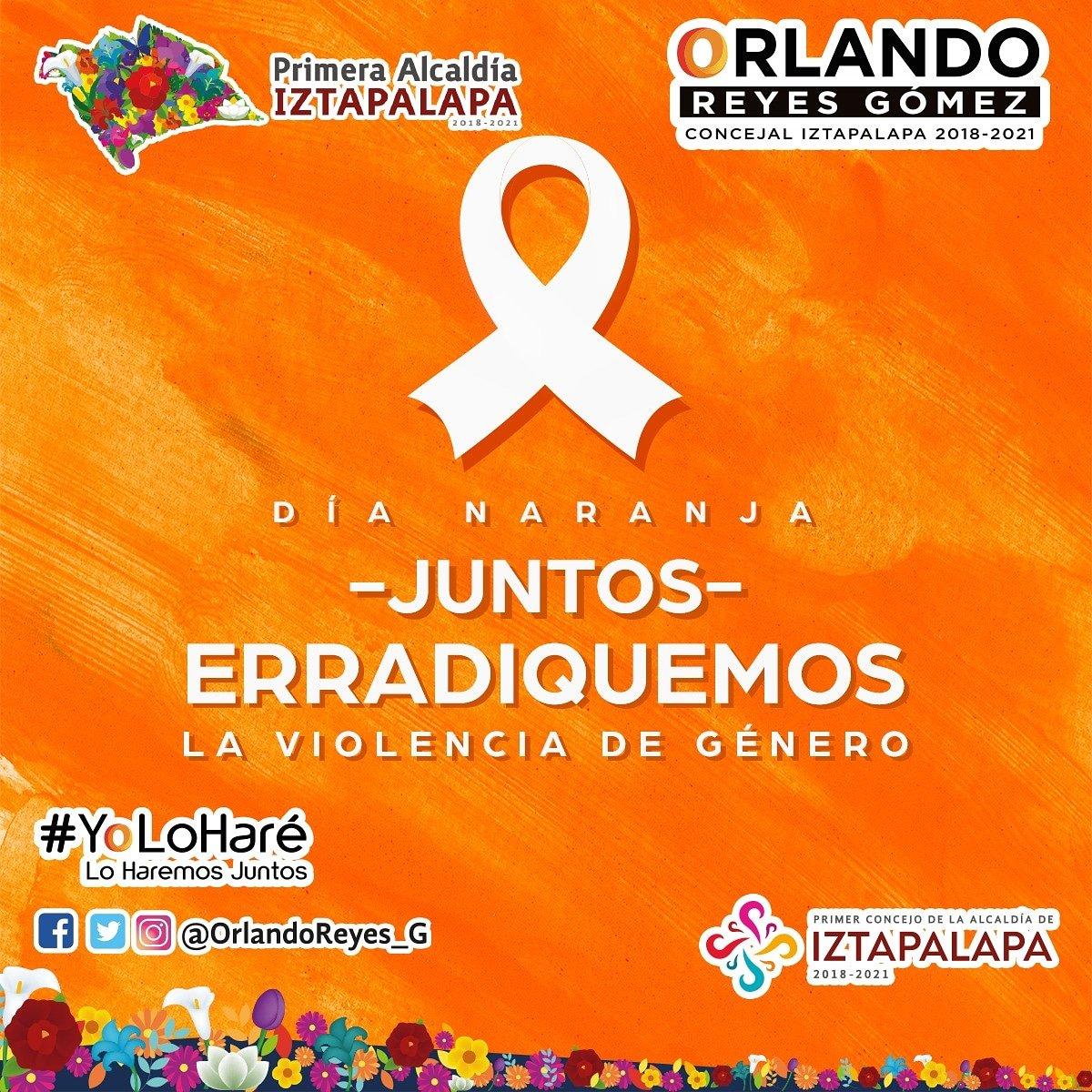#Únete para que juntos erradiquemos la violencia de género en cualquiera de sus representaciones. #YoLoHaré ¡Lo Haremos Juntos!❤️🇲🇽☝🏼  #PintaElMundoDeNaranja  #DíaNaranja