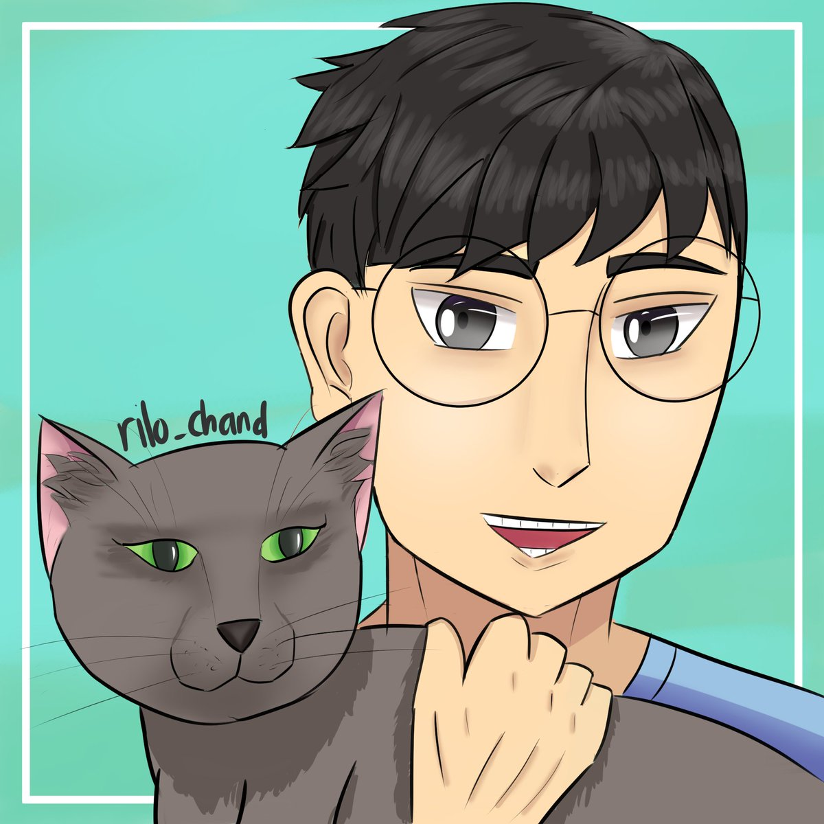 Hey! Rezy's here, and now I'm with Ryu, my cat who likes to climb everything in my room. He loves the high place, perhaps?  Pas banget abis export gambar ini, trial csp abis :( mau ngedit hal-hal kecil jadi gabisa hiks. Saatnya pindah ke medibang  #artwork #drawing #oc #cats