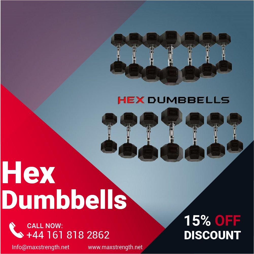 Check out this High quality Solid Cast Hex Dumbbell Sets Encased In Rubber!! Burn Fat & Get Stronger Faster with the No 1 Weight Training Equipment #WeightPlates #Pullup #BarsDumbbells #gym #muscle #workout
