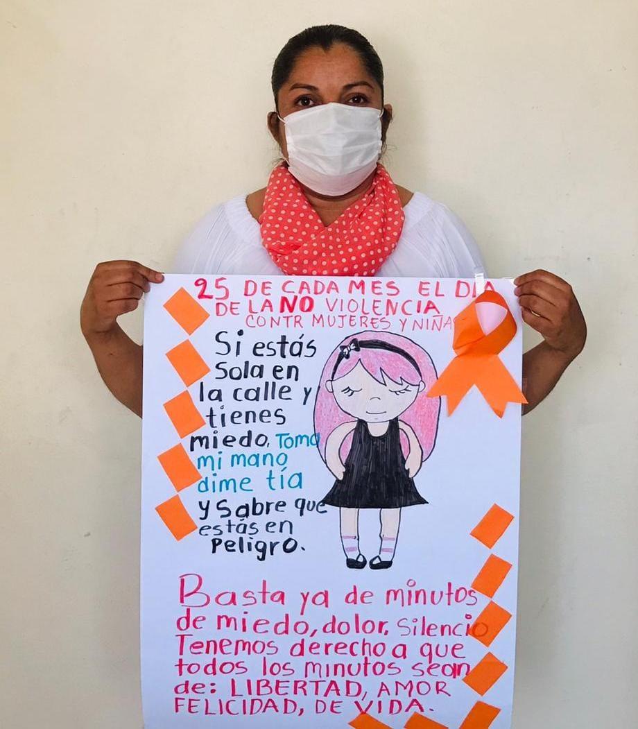 En la Coordinación V Tehuacán nos unimos al #DíaNaranja, únete para Erradicar la violencia contra niñas y mujeres 🚺. #PintaElMundoDeNaranja. #NoEsNo🖐.