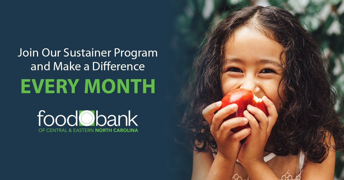 This January, your 1st monthly donation can be MATCHED by a generous Food Bank friend (up to $5,000 in match dollars available)!     #NoOneGoesHungry