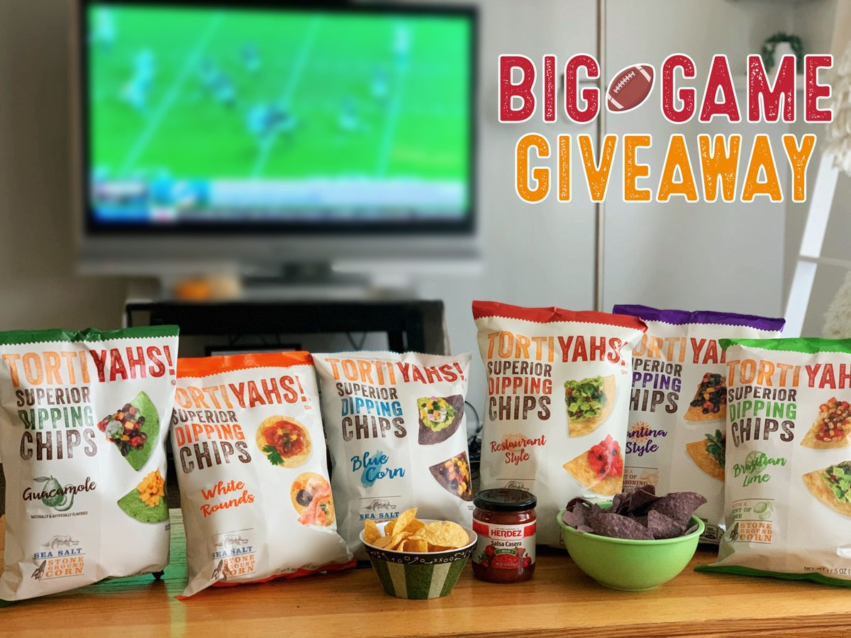 TORTIYAHS! has you covered when it comes to Big Game snacking! We're giving you the chance to win a Big Game Pack just in time for your watch party! To enter:  🏈Retweet this Tweet 🏈Follow our Twitter 🏈Comment and tag 2 football fans  For official rules: