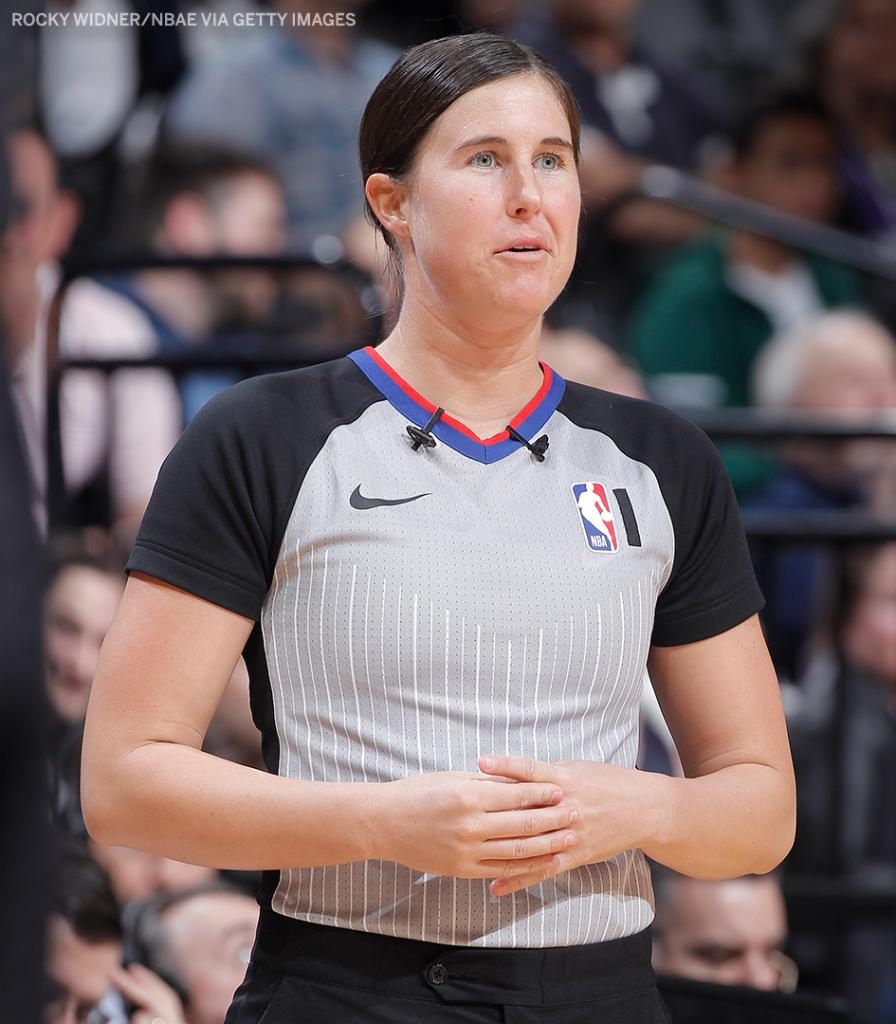 Natalie Sago and Jenna Schroeder will become the first female duo to officiate the same NBA game 👏  They will be working the Hornets-Magic tonight.