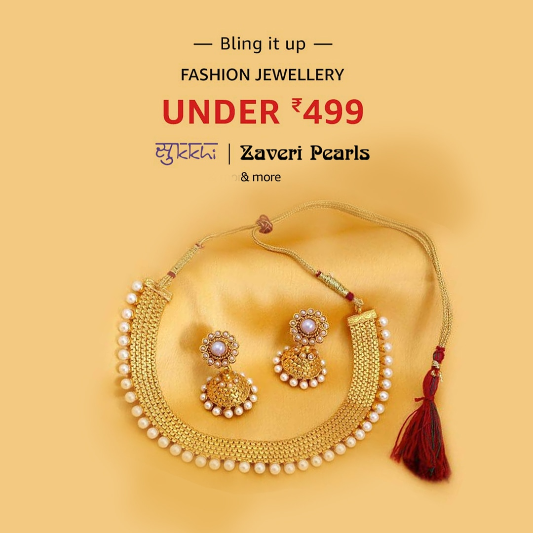 Nothing glams up an outfit like beautiful jewellery does! Shop for the latest trends in fashion jewellery at the #BlingItUp sale & grab stunning pieces from leading brands for under Rs. 499:   #Jewellery #Sale #AmazonFashion #HarPalFashionable