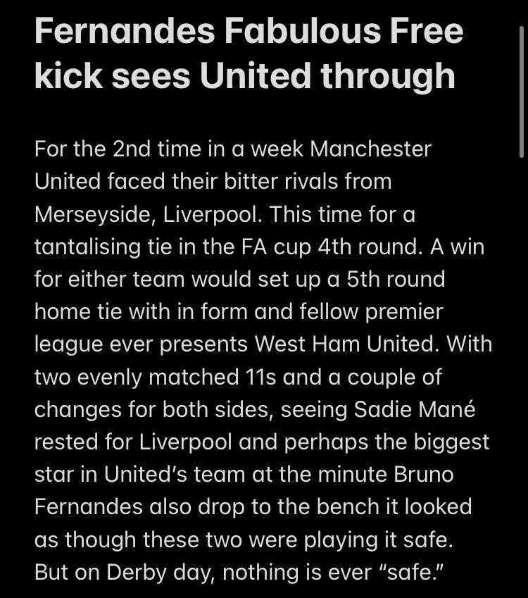 Part 1 of The #FACup Derby day write up #Liverpool #ManchesterUnited #MUNLIV 😎⚽️