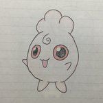 Image for the Tweet beginning: #129 落書き ププリン #アナログ #らくがき #ポケモン