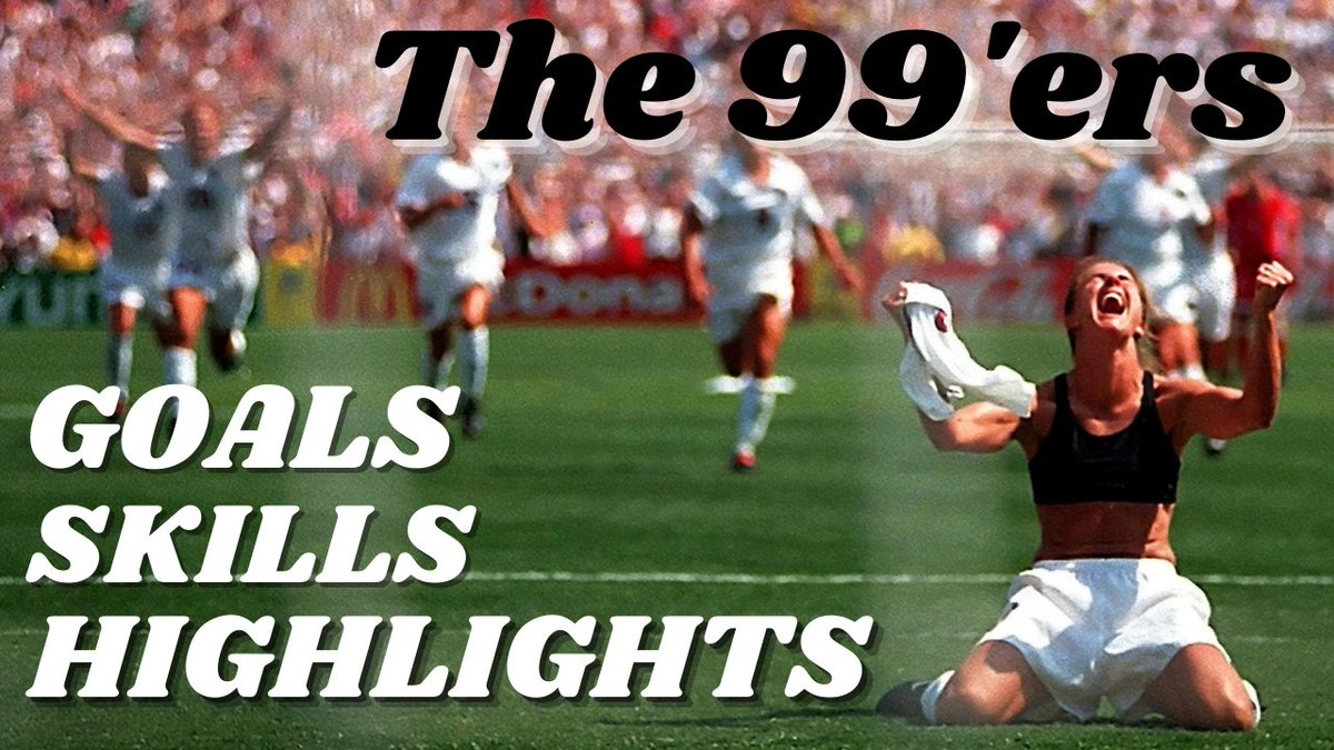 Here is probably the most complete video about the 99'ers. Goals, skills, highlights ... I watched all the matches, here is the result:    @TalkingWoSo @womenfootiefans @WomensSoccerFr @USWNT_Women @USWNTreactions @USWNT @NWSL_USWNT_fan #USWNT #99ers