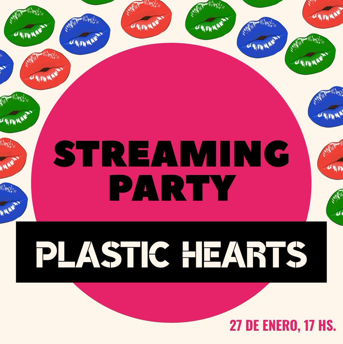 🚨 STREAMING PARTY 🚨  Celebrando los DOS MESES de #PlasticHearts, nos juntamos este miércoles 27/01 a las 17 hs (🇦🇷) para darle stream al álbum de Miley Cyrus. Agradecemos todo tipo de difusión ❤🤘. #PlasticHeartsStreamingParty