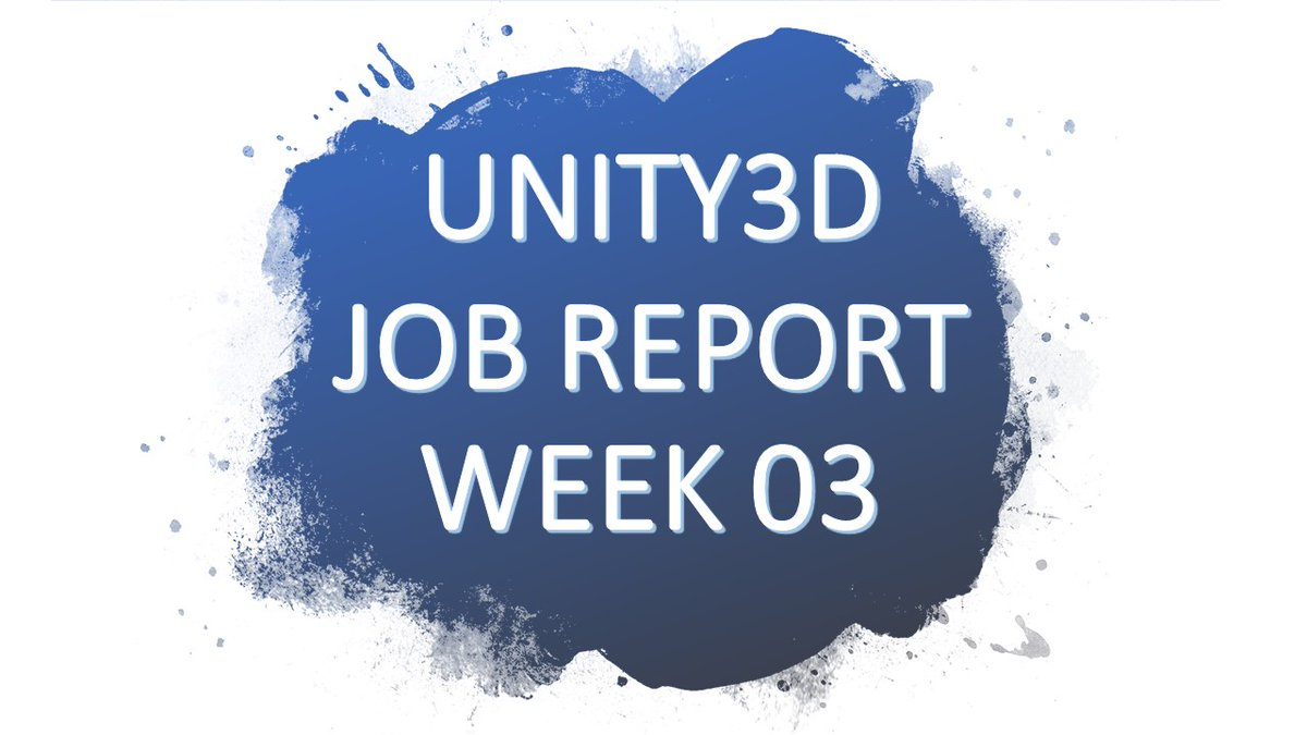 Great start of 2021 - almost 1450 new and unique #game #jobs offerings related to #unity3d.  Report can be downloaded #free via  or watch it (and more) via:   #business #indiedev #gamedev #gaming #YouTube #VIDEO