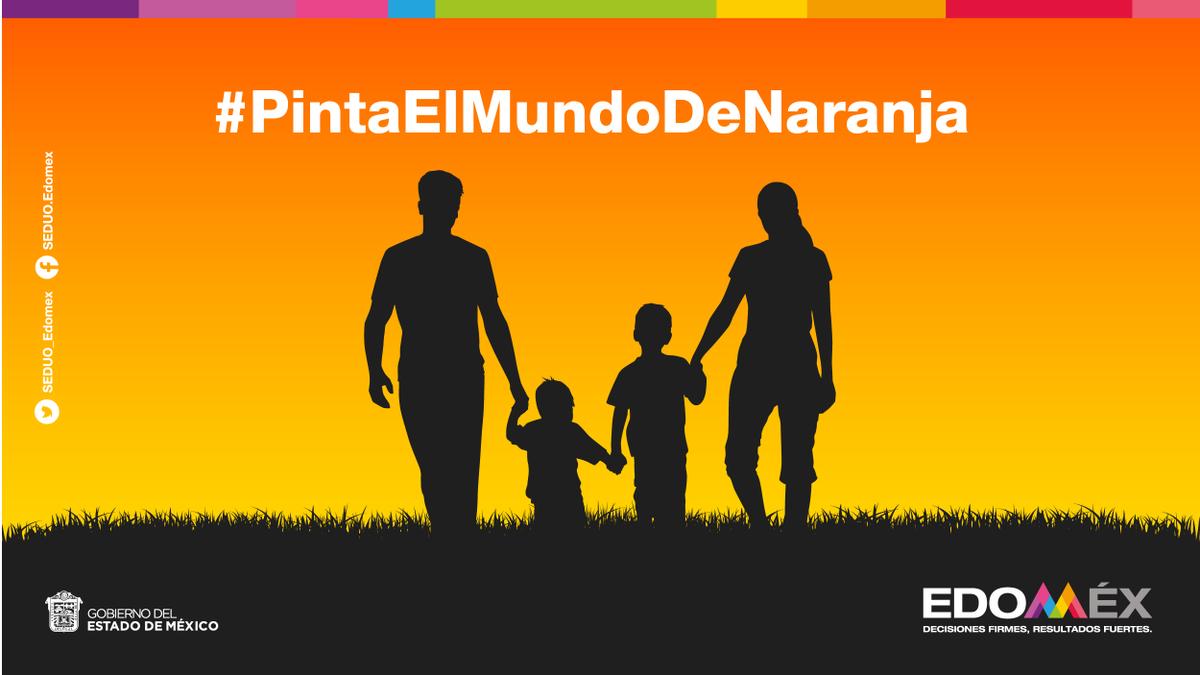 #DíaNaranja | Eliminar la violencia contra las mujeres y niñas es una acción que inicia en casa e impacta positivamente a toda la sociedad. #PintaElMundoDeNaranja.