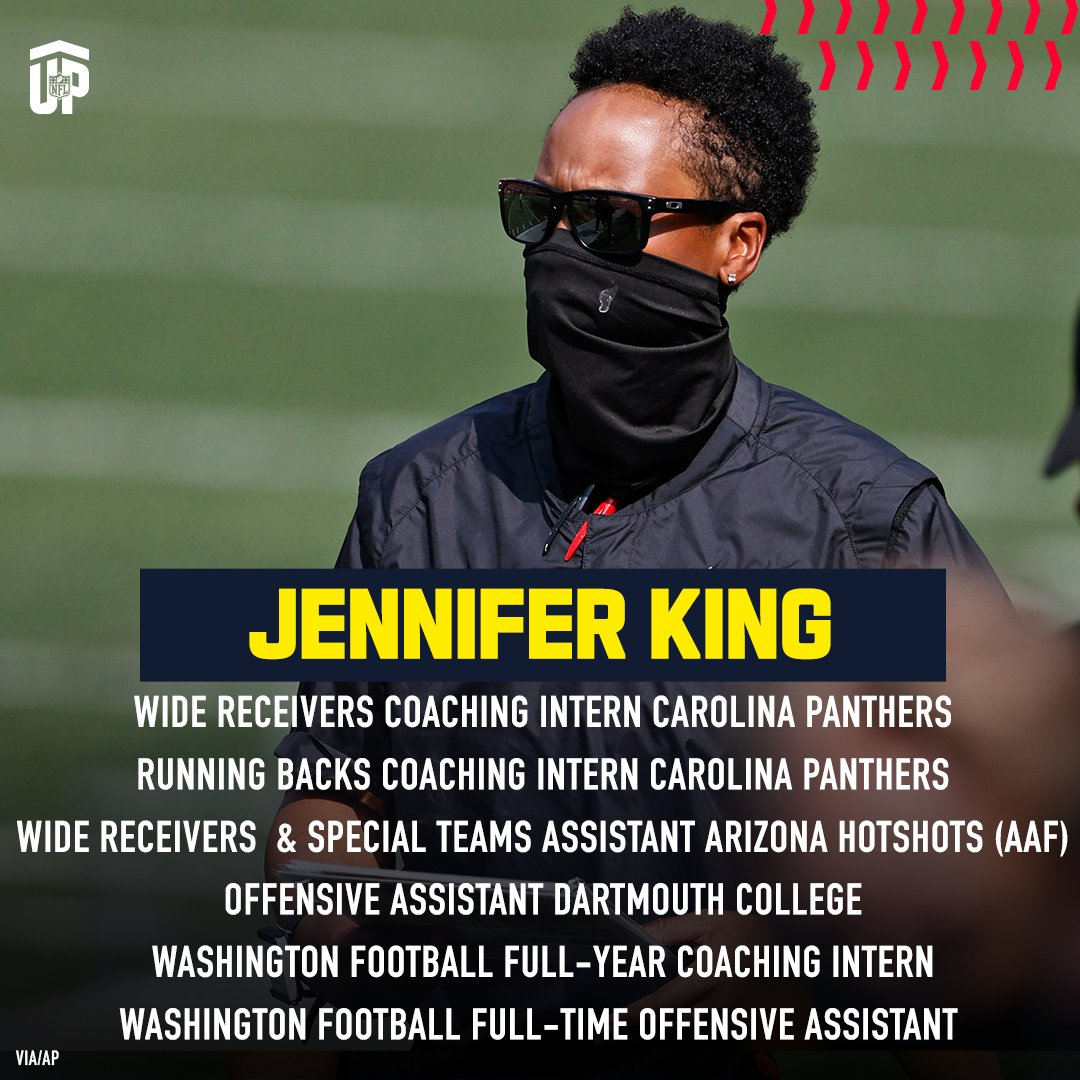 Jennifer King will be the first black woman to be a full-time coach in the NFL