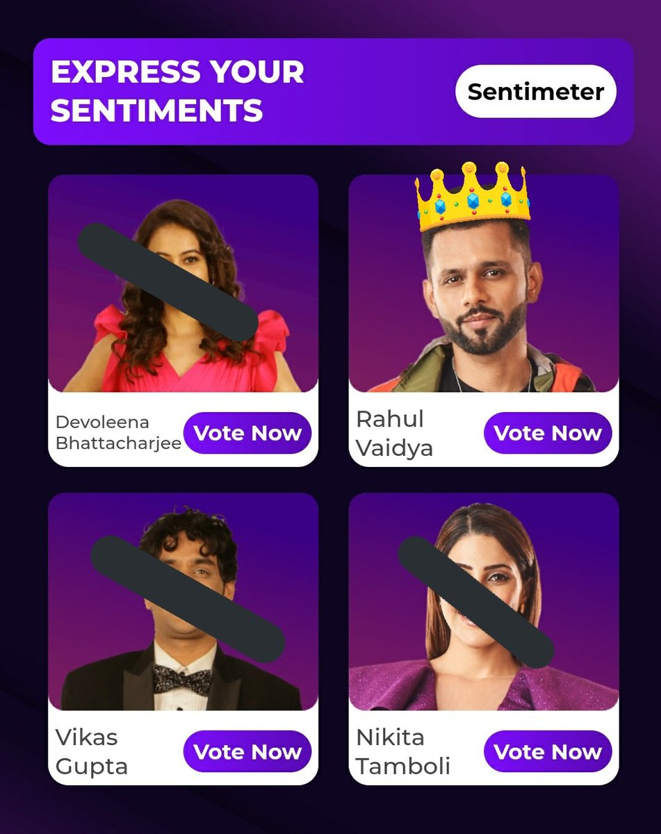 Guys voting line is opened now. Go and vote for RahulVaidya Create multiple IDs and make our champ the highest voted Contestant.  You can vote on Voot & MyJio app.  WE ARE WITH RKV @rahulvaidya23 #Biggboss14 #BB14