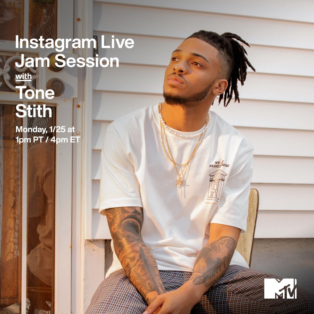 This week's off to a great start because @ToneStith is joining us for an #MTVJamSession TODAY at 1p PT / 4p ET on MTV's IG Live! ✨🔥