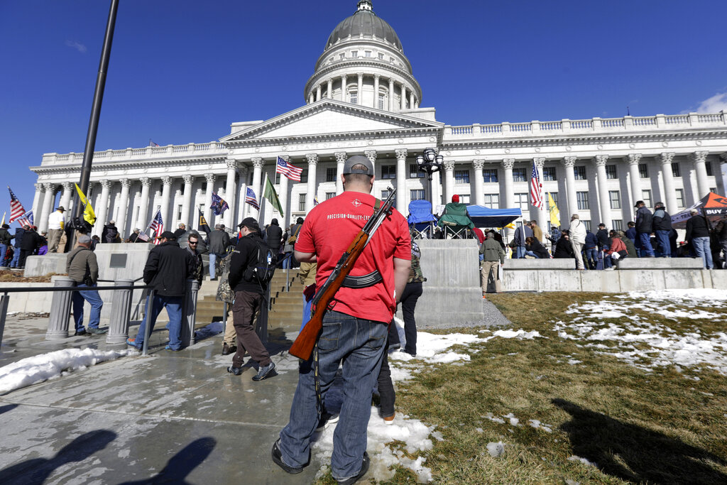 Replying to @OANN: GOP lawmakers push to loosen gun restrictions in several states -  #OANN