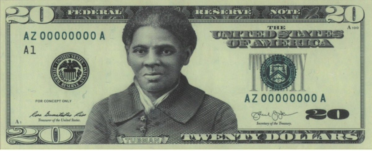 NEW: Biden administration just announced Underground Railroad hero Harriett Tubman will kick notorious racist Andrew Jackson's ass off the $20 bill.  How do you feel?