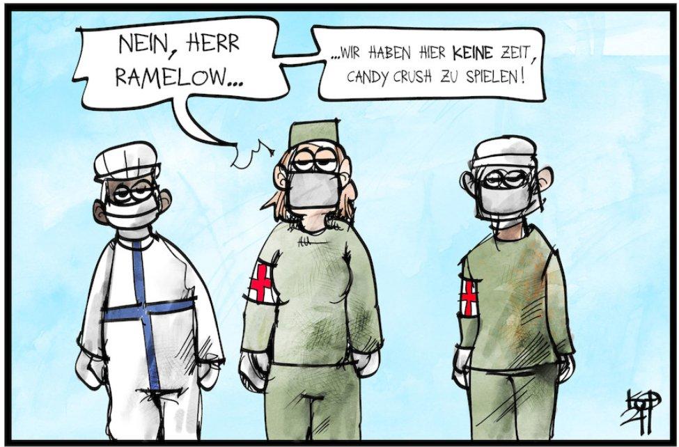Mit seiner #Arbeitsmoral ist der #Linke #Ministerpraesident Bodo #Ramelow ein echtes #Vorbild in der #Coronakrise! #Thueringen #ClubHouseApp #Merkelchen #Erfurt #Linken #cloubhouse #Corona @bodoramelow