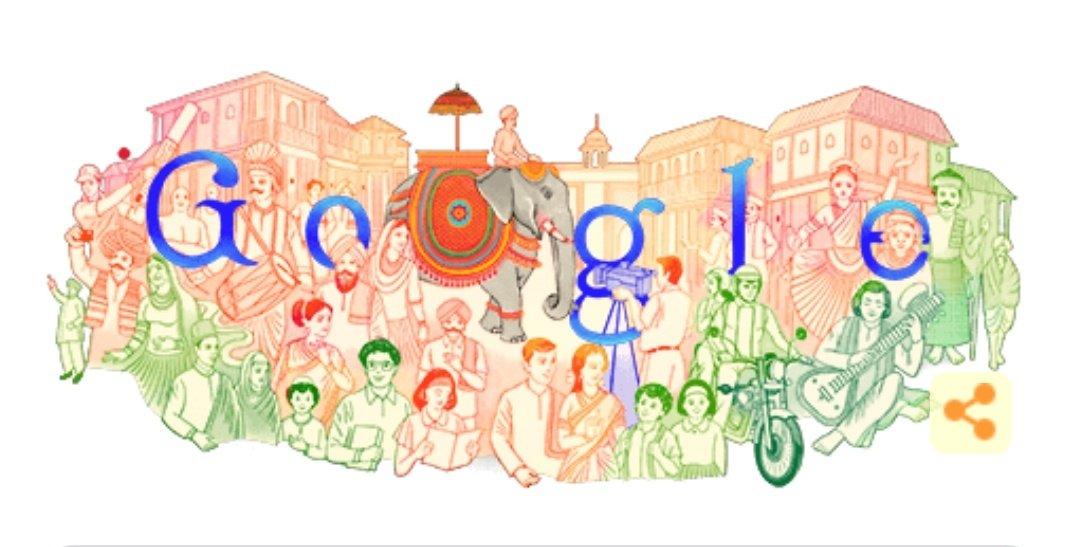 #GoogleDoodle #RepublicDay 🇮🇳